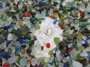 1-4-1-2-INCH-ONE-POUND-MACHINE-MADE-RECYCLED-TUMBLED-BEACH-SEA-GLASS-DECORATION