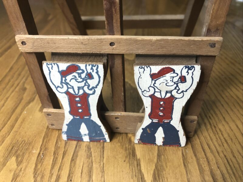 Vintage Wooden Popeye Tumbling Ladder