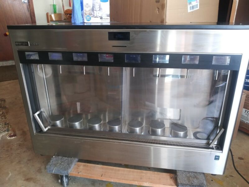 ENOMATIC ELITE refrigerated commercial 8 WINE DISPENSER Italy dispensing system