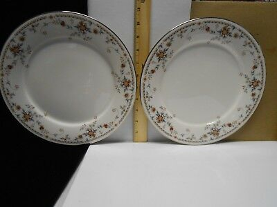 Set Of Two  2  Noritake China Adagio Dinner Plates 10 1 2  Diameter