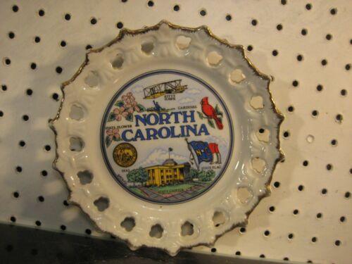 North Carolina Kitty Hawk State Capitol State Souvenir Plate