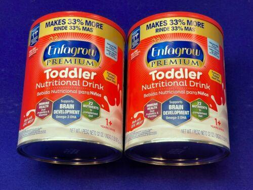 2 (32oz) Enfagrow Premium Toddler Nutritional Drink Natural Milk Flavor EXP 4/22