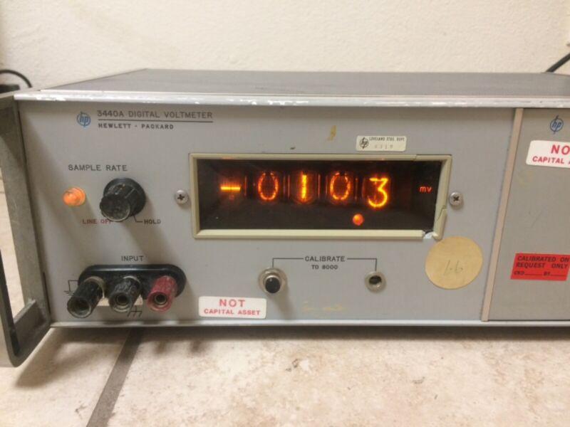 HEWLETT PACKARD HP 3440A DIGITAL VOLTMETER + 3443a