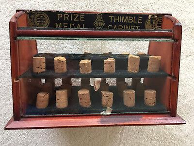 Thimble Cabinet dtd 1862 London, Wood & Glass