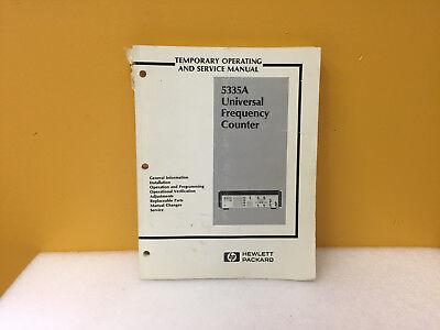 Hp Agilent 05335-90005 5335a Temporary Operating Service Manual