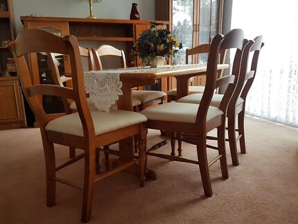 solid wood dining table and 6 chairs dining tables gumtree australia bankstown area panania