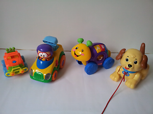 Fisher Price Musical Roll Along Snail and 3 other toys Wantirna Knox Area Preview