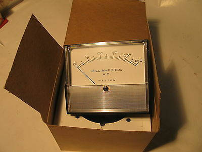 Weston Panel Meter Pioneer 0-250 Acma 2031 2032 On Box 3 X 3.5