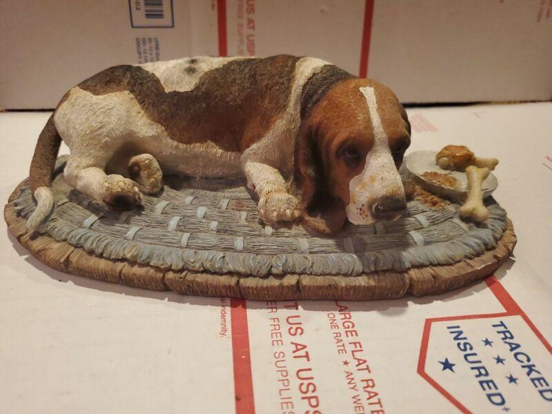 Vtg Hard Plastic Bassett Hound Figurine