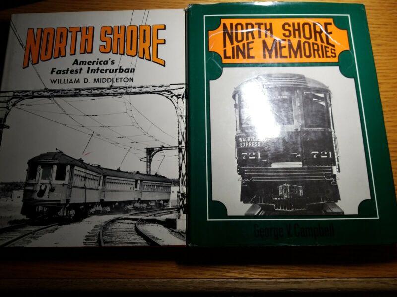 North Shore Line lot of 2 Books. Middleton/Campbell. CNSM-CHICAGO.
