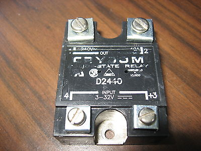 Crydom D2440 Solid State Relay 40 Amp 240 Volt