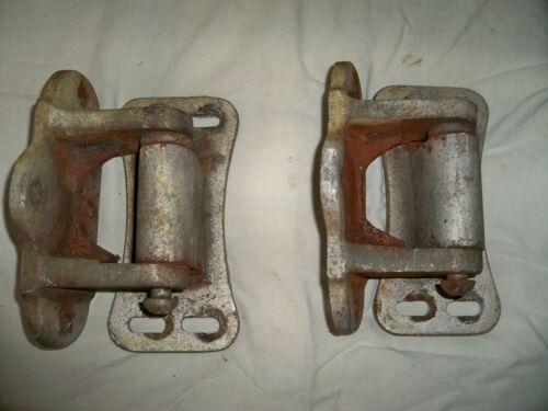 Vintage Pair Large HEAVY  BORDNER Hinges Barn Door Gate Icebox Freezer Chest