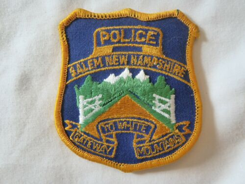 SALEM NEW HAMPSHIRE POLICE UNIFORM EMBLEM PATCH, SMALL SIZE, NEW UNUSED!