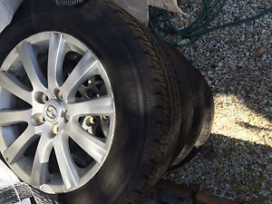 4 x Mazda CX-7 rims and tyres Ashmore Gold Coast City Preview