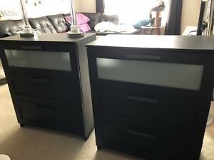 Two ikea dresser with crystal lamps