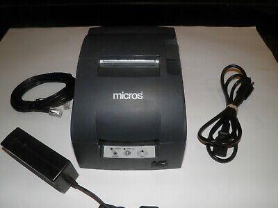 Micros Epson Model Tm-u220b Receipt Printer M188b Ethernet W Power Supply