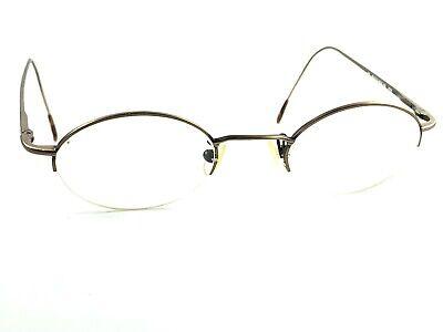 Authentic Polo Ralph Lauren Classic 358 WW9 Brown Rx Half Rim Eyeglasses Frames