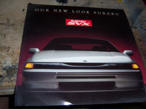 1992 Subaru SVX sales brochure