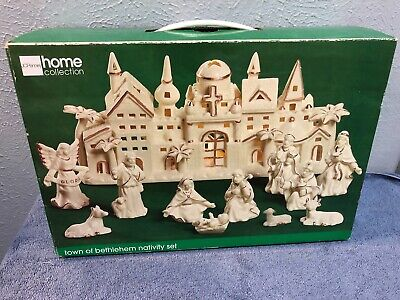 JC PENNY HOME COLLECTION TOWN OF BETHLEHEM NATIVITY SET