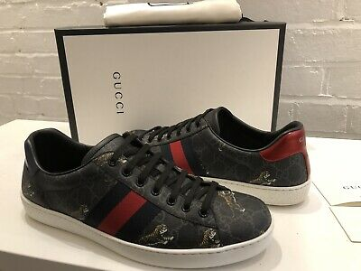 GUCCI MENS ACE GG SUPREME TIGER SNEAKERS SUPREME UK 9