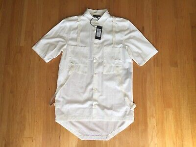 $750.0 NEW ALEXANDRE PLOKHOV SUSPENDER S/S LONG SHIRT M/ITALY TAG SIZE 48 FITS M