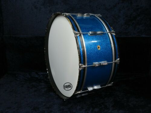 Ludwig Keystone 26 x 10 Marching Bass Drum Ser#721578 Blue Sparkle