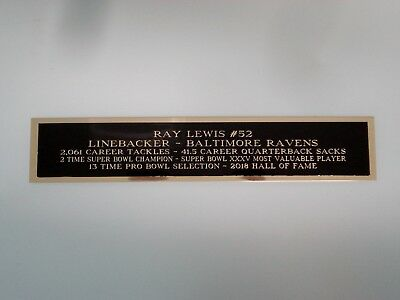 Ray Lewis Ravens Nameplate For A Football Jersey Display Case 1.25 X 6