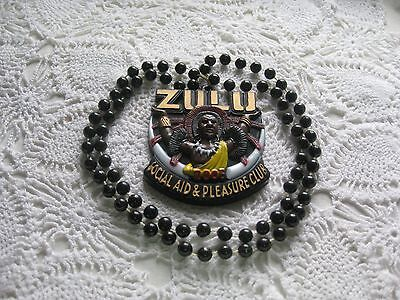 Krew of Zulu Carnival  Necklace from New Orleans Mardi Gras Parade-2005