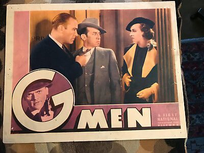 G-Men 1935 First National crime lobby card James Cagney Margaret Lindsay