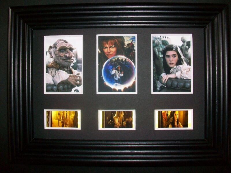 LABYRINTH Framed Trio Movie Film Cell Memorabilia - Compliments dvd poster