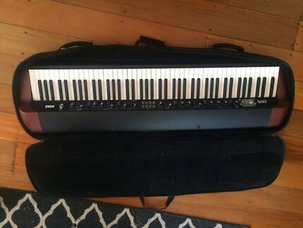 Korg SV1 88 Keys with custom stand and soft case with wheels