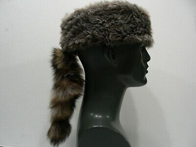 DAVEY CROCKETT CRITTER HAT - M/L SIZE NOVELTY STOCKING CAP BEANIE HAT!