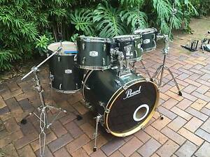 Pearl EX Export Charcoal Finish Drumkit W/ Hardware and drumstool Caringbah Sutherland Area Preview