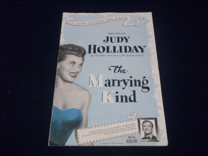 1952 THE MARRYING KIND MOVIE PRESS BOOK - JUDY HOLLIDAY - ALDO RAY - P 111