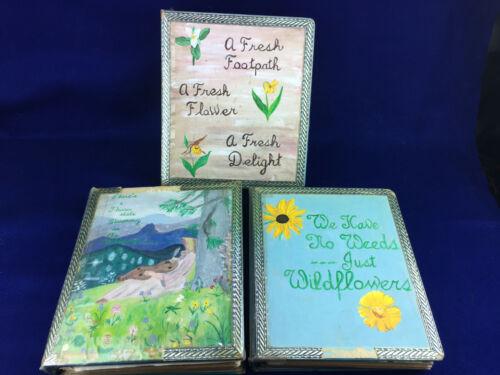 Vintage Pressed Dried Flower Album Arkansas Ouachita Forest Plant Photo Book