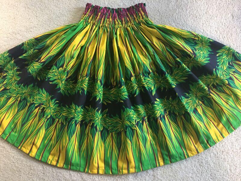NEW GREEN YELLOW BLACK HAWAIIAN  PAU PA