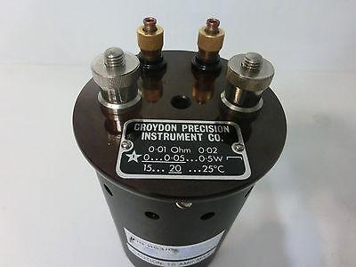 Lowered Price Croydon Precision Inst 0.01 Ohm 10 Milli-ohm Resistor Standard