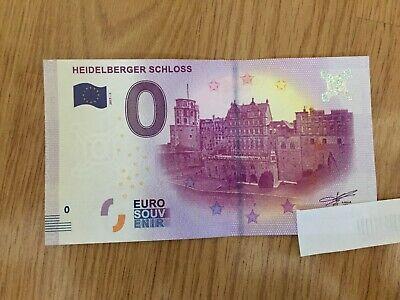 0 Euro Souvenir Schein XE LU 2017-1 HEIDELBERGER SCHLOSS
