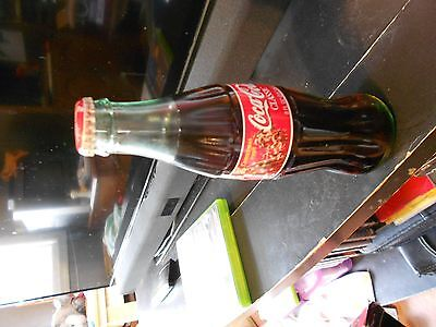 Coca ' Cola  1998  Christmas  SANTA  and  Reindeers,  1 - 8  Oz Bottle