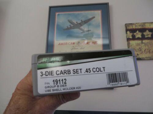 RCBS 19112 New Carbide 3 Die Set for .45 Colt