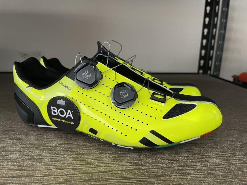 Crono CR-2 Carbon Yellow Fluorecent Road Bike Shoe size 41