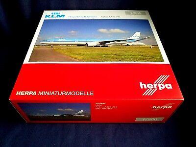 Neu Herpa 529921-001 1//500 Boeing 747-400 KLM Royal Dutch Airlines