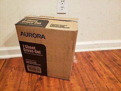 New Open Aurora Au740xa 7-sheet Shredsafe Crosscut Paper Credit Card Shredder