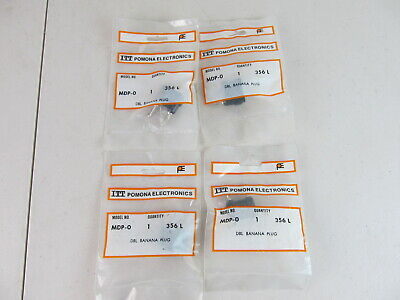 Pomona Mdp-0 Double Banana Plug Test Jacks Black Qty 4pcs New In Bags