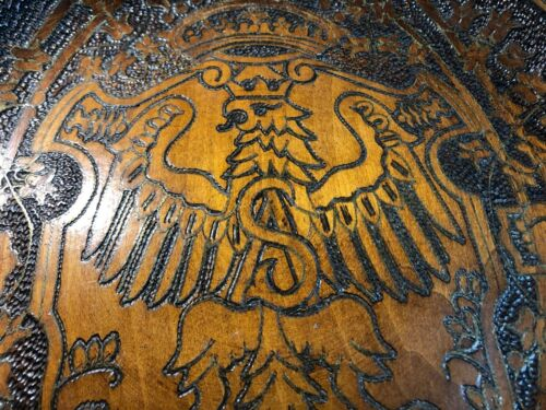 AMAZING HAND CARVED MAHOGANY TABLE TOP