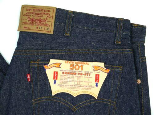 Vintage Levis NOS 501-0000 Dark Jeans Mens 42x31 Deadstock 80s Denim NWT 501XX