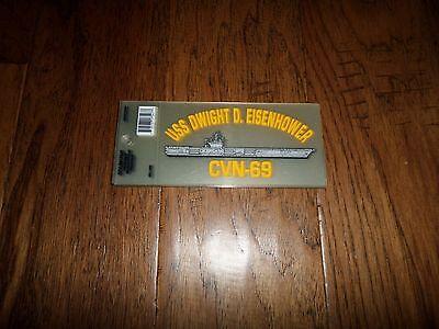 U.S MILITARY NAVY USS DWIGHT D. EISENHOWER CVN-69 WINDOW DECAL BUMPER STICKER