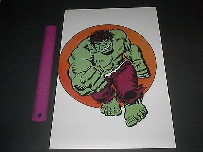 MARVEL COMICS SUPER-HEROES INCREDIBLE HULK POSTER PIN UP OLD SCHOOL STYLE