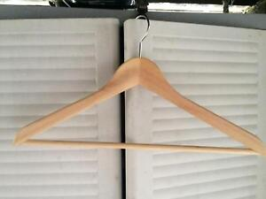 Dozen wood clothes/coat hangers Lutwyche Brisbane North East Preview