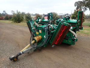 IMMACULATE RANSOMES TG4650 7 GANG FAIRWAY GREENS REEL CYLINDER MOWER TOW BEHIND TRACTOR SLASHER Austral Liverpool Area Preview
